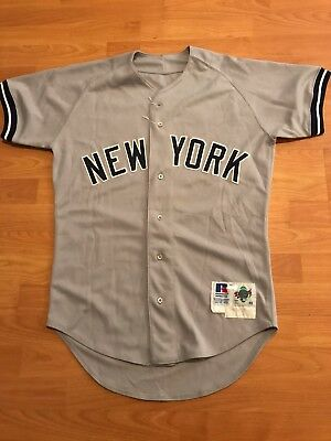 1995 Luis Polonia New York Yankees Road Game Used Jersey Steiner #17
