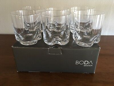Boxed Set Of 6 Boda Double Old Fashioned  Glasses