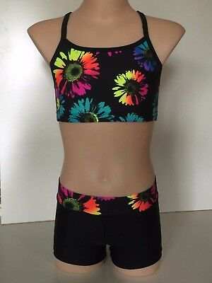 Crop Top and Short Set - Girl Sizes - dance, gymnastics, Cheer, activewear