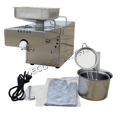 110V Automatic Nut Seed Oil Presser Extractor Oil Press Machine For Household