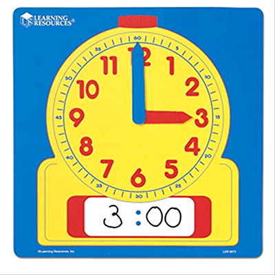 Write and Wipe Demonstration Clock Heavy Duty Laminated Educational Christmas