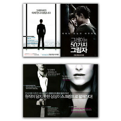 Fifty Shades of Grey Movie Poster 4S Jamie Dornan, Dakota Johnson, Luke Grimes