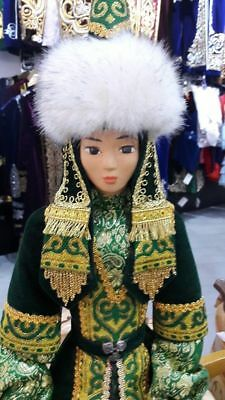 Kazakh girl in national clothes/Doll for decoration/Author's work/GGG-Kazakhstan