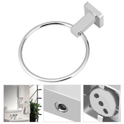 Chrome Towel Ring Hand Rack Holder Wall Mount Mounted Bathroom Round Polished GW