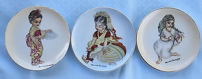 3 x Brownie Downing Collector's Plate's - Signed - International Series, Rare