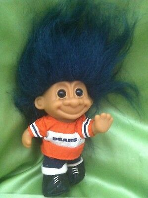 Troll Russ Doll Footballer Bears Vintage Rare With Foot Sticker Collectable