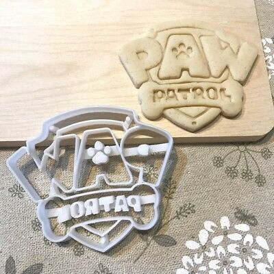 Paw Patrol Cookie Cutter - Fondant Cake Cupcake Topper Badge Logo Symbol Dog Pup