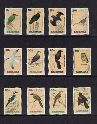 Bahamas, 1991 Birds definitive set, short set to 70c (12), MNH