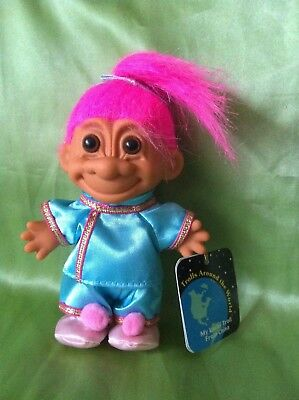 Troll Russ Doll China Around The World With Hang Tag Vintage Toy Collectable