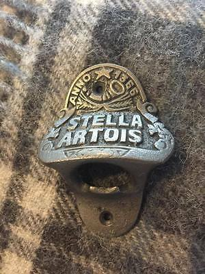 Cast Iron Stella Artois Bottle Opener Wall Mounted