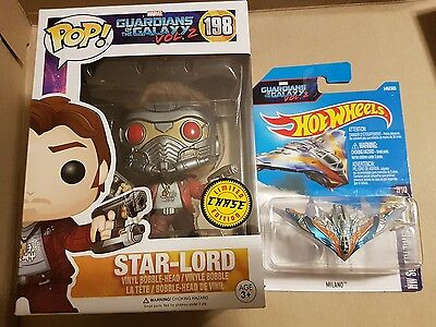 Funko Pop Marvel Guardians of the Galaxy Star Lord CHASE Hot Wheels Milano