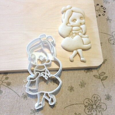 Little Alice in Wonderland Cookie Cutter - Fondant Cake Cupcake Topper Biscuit