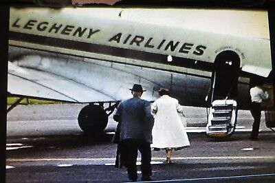 8mm Home Movie Film Reel Airport Airplane Connie Airlines VW Bus Autos Military
