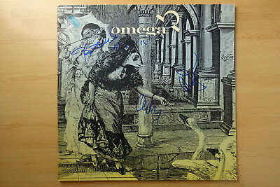 """Omega band Autogramme signed LP-Cover """"200 Years After The Last War"""" Vinyl"""