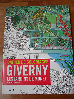 Livre Coloriage Anti Stress Pour Adulte Giverny Neuf
