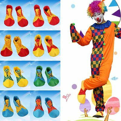 Boys Clown Shoes Party Costume Fancy Dress Accessory Props Footwear Christmas