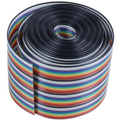 10ft 40 Way 40-Pin Rainbow Color IDC Flat Ribbon Cable 1.27mm Pitch WS C2X5 D9H5