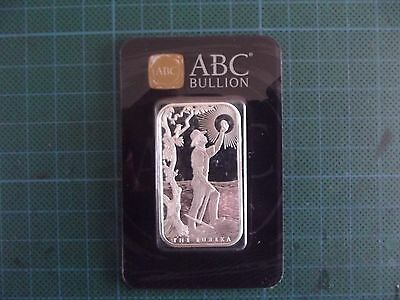 1 Troy Oz, ABC Bullion, Eureka (sealed & numbered)  .999 Fine Silver Bar.
