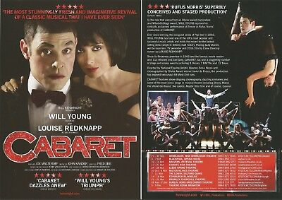 Will Young Louise Redknapp (of Strictly) Cabaret Musical UK Tour 2017  Flyer x 3