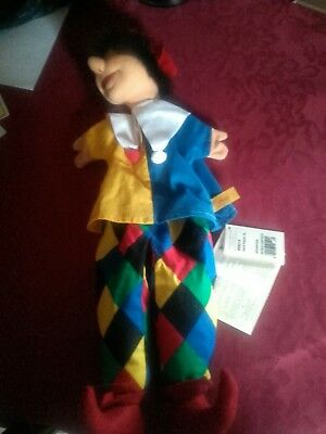 Steiff Hand Puppet With Tag Rare Jester