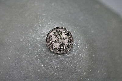 Uk Gb Maundy 2 Pence 1838 Victoria Silver Amazing Details A71 #1209