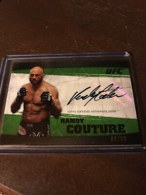 Randy Couture 2010 Topps UFC Knockout Autographed Green Card #d 60/88
