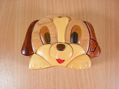 Dog Wooden Puzzle Box