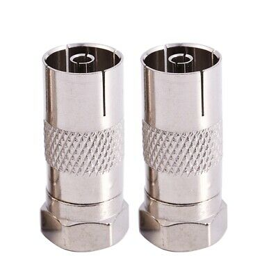 Straight F Male to PAL Female Jack RF Coaxial Connector(Pack 2) WS XV K3V4