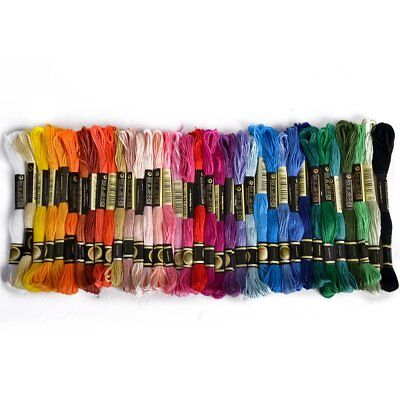 36 skeins thread Multicolored For Embroidery Cross Stitch Knitting Bracelet M9E3