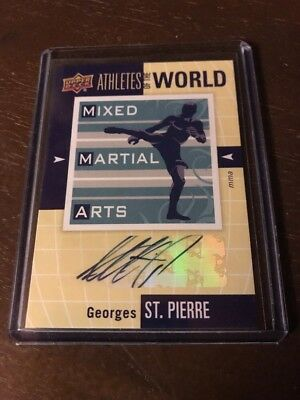 George's St Pierre 2011 Upper Deck Athletes Of The World MMA Autographed Auto