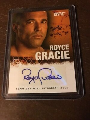 Royce Gracie 2010 Topps UFC Autographed Auto Card Of Hall Of Fame Legend!