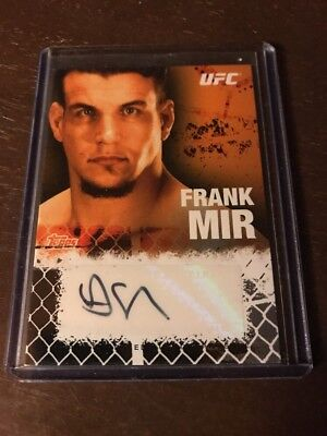 Frank Mir 2010 Topps UFC Certified Autograph Issue Autograph Auto Card