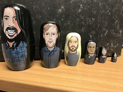 Foo Fighters Nesting DOLLS concrete and gold RARE Soldout bundle. Limited Ed