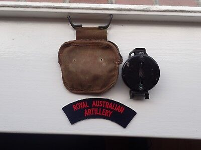 Australian WW2 Artillery Man Compass And Pouch And Patch