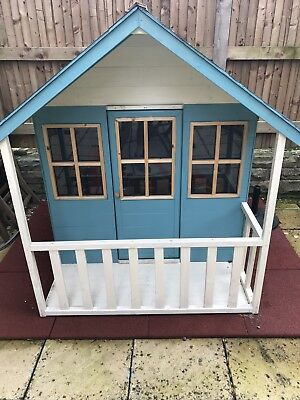 TP Wooden Summer Lodge Children's Playhouse With Curtains And Fairy Lights