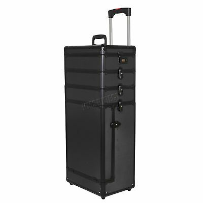 FoxHunter T-BLK Makeup Beauty Cosmetic Hairdressing Nail 4 In 1 Case Box Trolley