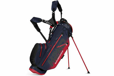 **only £ 95.00 ** Used Sun Mountain H2N0 14 Way Stand Bag Navy/red
