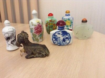 Collection Of 7 Interesting Chinese Snuff Bottles