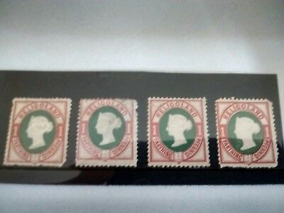 QV Stamps x4 Territories HELIGOLAND 1875 SG10 MM MOUNTED MINT Cat CV £80