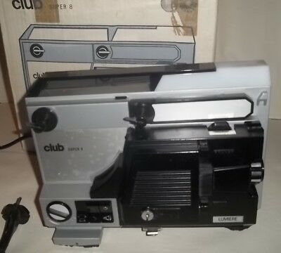 Vintage Ancien projecteur CLUB SUPER 8 LUMIERE muet Click-Clack  image 8mm
