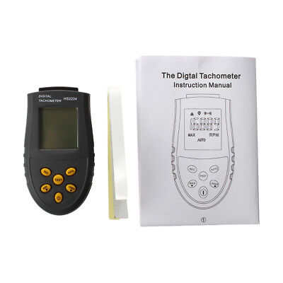 Non-contact Digital Tachometer LCD RPM Test Small Engine Motor Speed Gauge T1I3