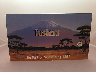 USED TUSKERS Shop Retail Display Cardboard Sign RARE Country Artists