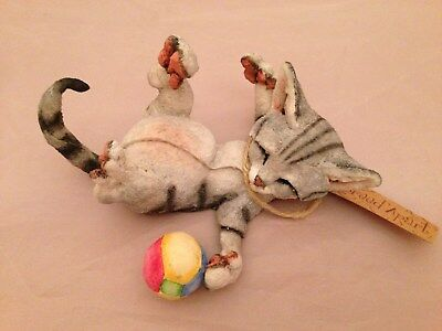 BNIB CA 05222 A Breed Apart MARBLES Grey Cat on Back BOXED IMMACULATE