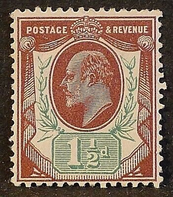 KGV sg287 1½d reddish purple & brt green Somerset House - L/M/Mint