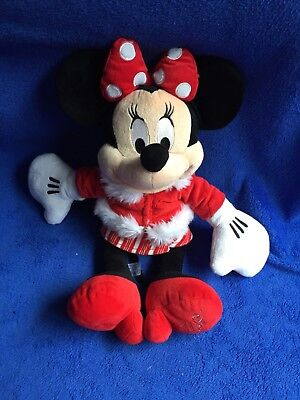 The Disney Store Minnie Mouse 2010 Christmas Winter Soft Toy Plush Teddy Cuddly