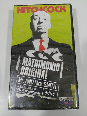 Hitchcock Matrimonio Original Mr And Mrs Smith Vhs Cinta Castellano New Nuevo