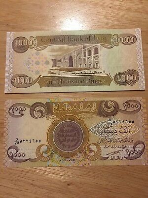 $$ New Iraqi Dinar 1000 NOTE UNCIRCULATED MINT $$     *FREE SHIPPING*