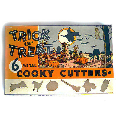 Box of 6 Halloween Cookie Biscuit Cutters Trick Or Treat Cute Graphics