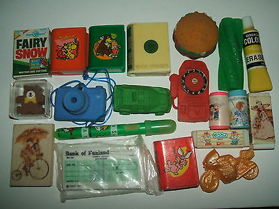 Vintage 1980s Collection of erasers rubbers gommes - Lot 3