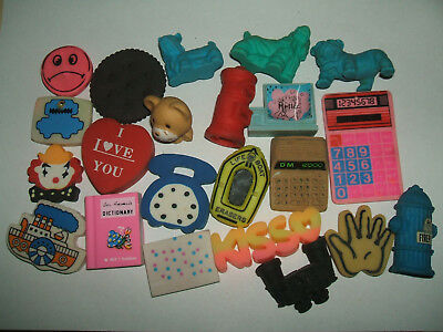 Vintage 1980s Collection of erasers rubbers gommes - Lot 27